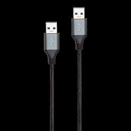 CORDON USB 2.0 A/A M/M NYLON NOIR 2M